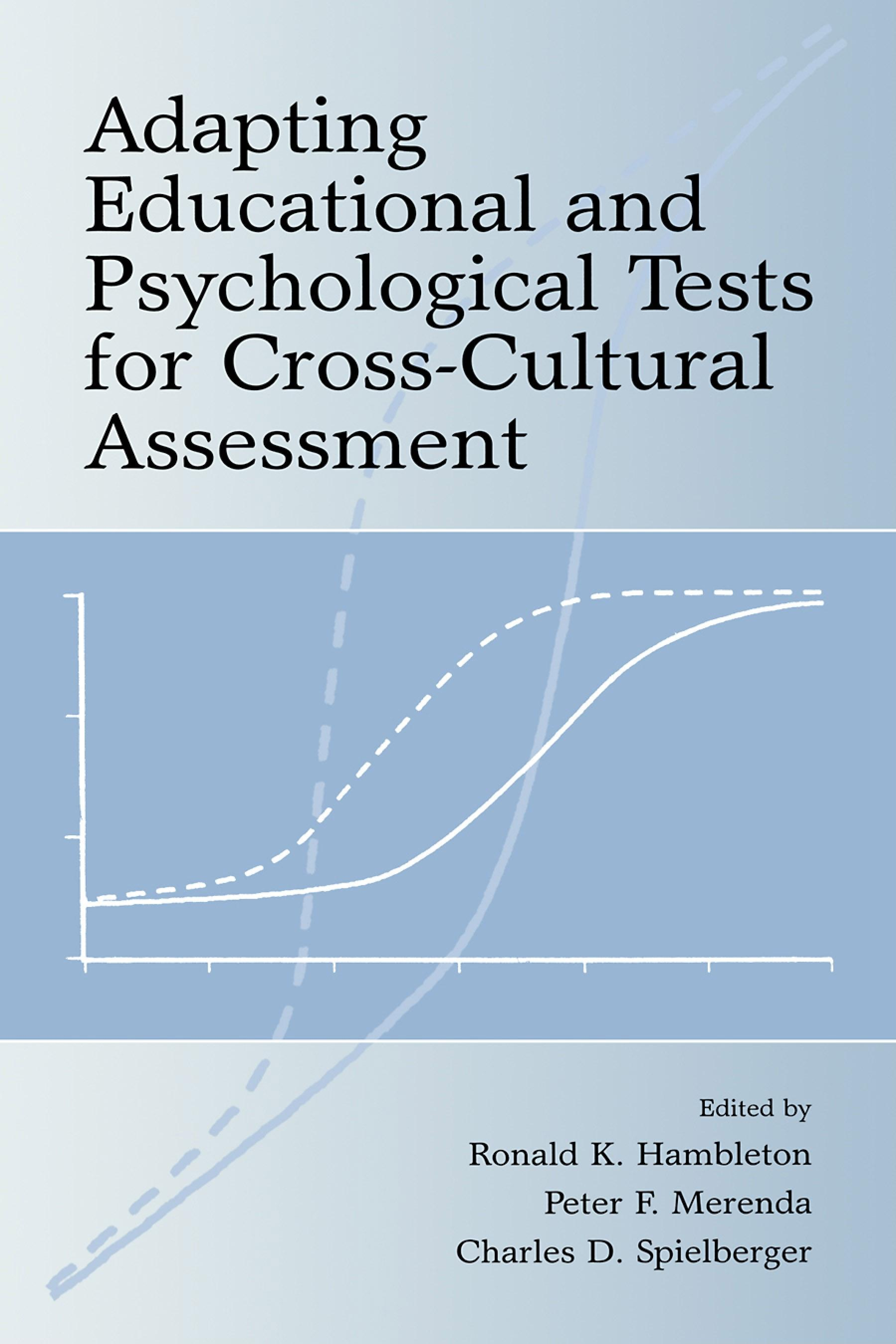 Adapting Educational and Psychological Tests for Cross-Cultural Assessment EB9781410611758