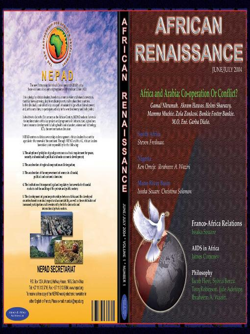 Africa and Arabia: Collaboration or Conflict? (African Renaissance vol 1 nol 1 2004) EB9781905068678