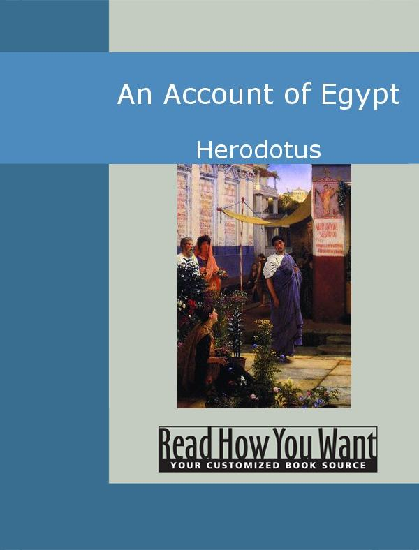 An Account of Egypt EB9781442937543