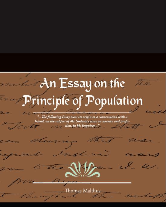 An Essay on the Principle of Population EB9781438550404
