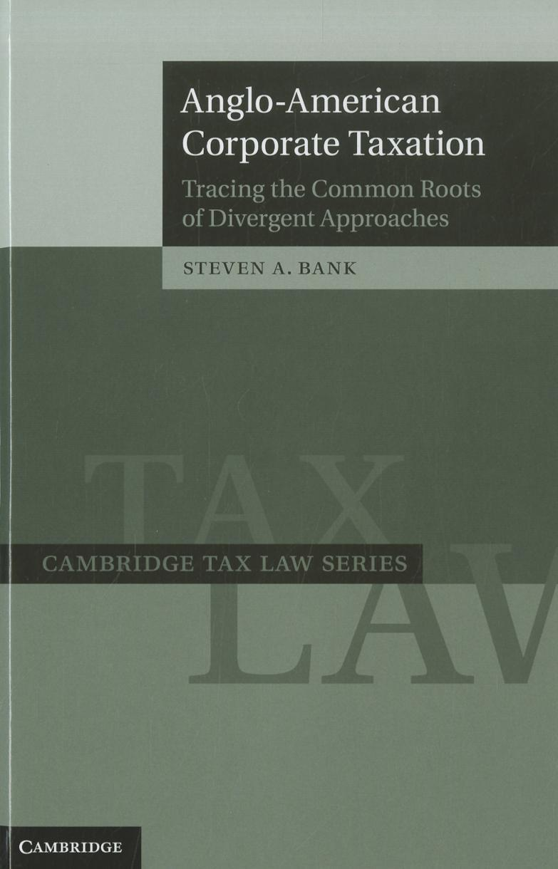 Anglo-American Corporate Taxation EB9781139153324
