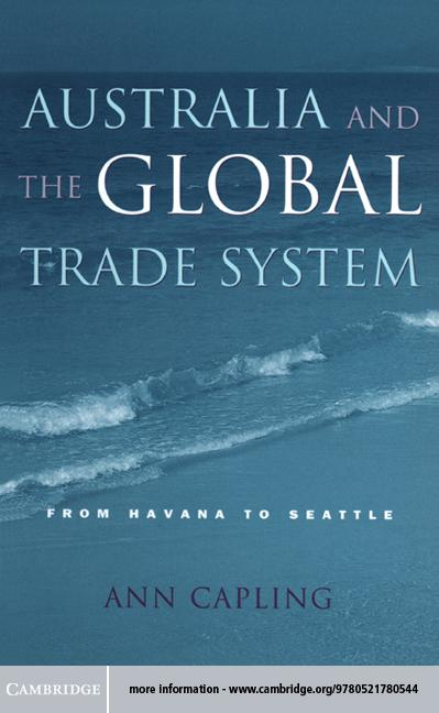 Australia and the Global Trade System EB9781139118316