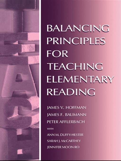 Balancing Principles for Teaching Elementary Reading EB9781135679712
