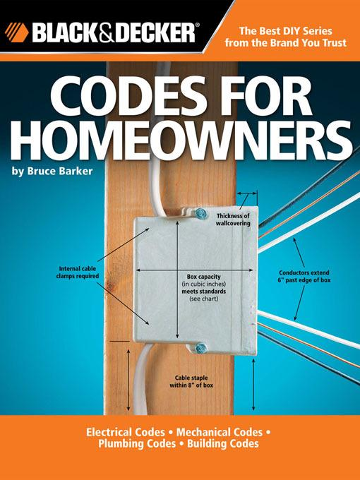 Black & Decker Codes for Homeowners EB9781610590129