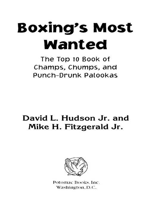 Boxing's Most Wanted? EB9781612340319