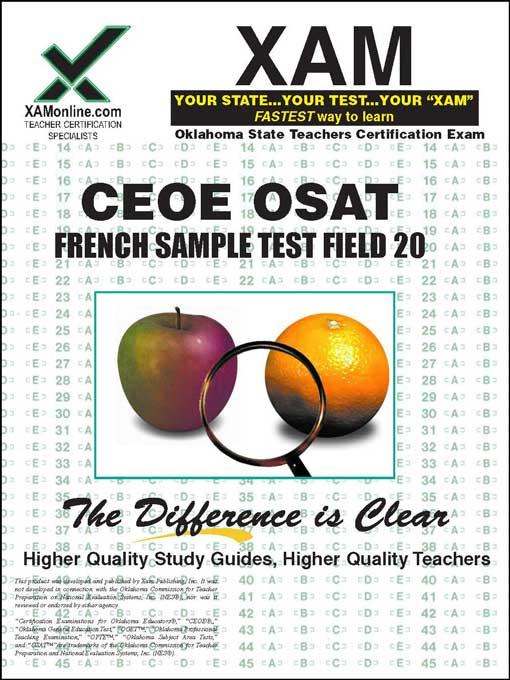CEOE OSAT French Sample Test Field 20 EB9781607879091