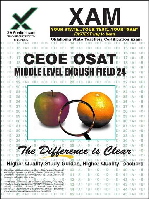 CEOE OSAT Middle Level English Field 24 EB9781607879107