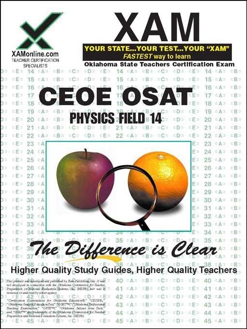 CEOE OSAT Physics Field 14 EB9781607879060
