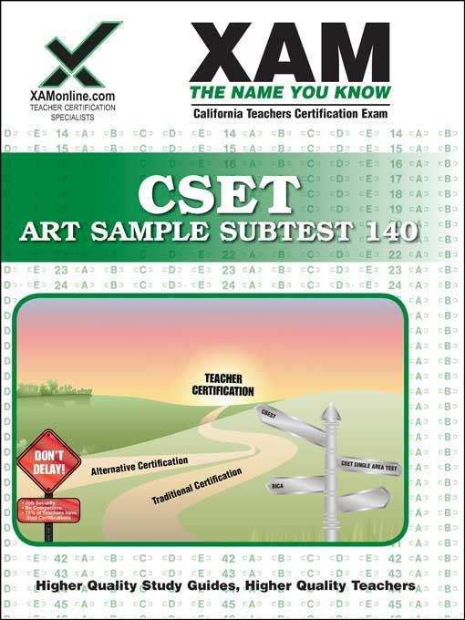 CSET Art Sample Subtest 140 EB9781607877332