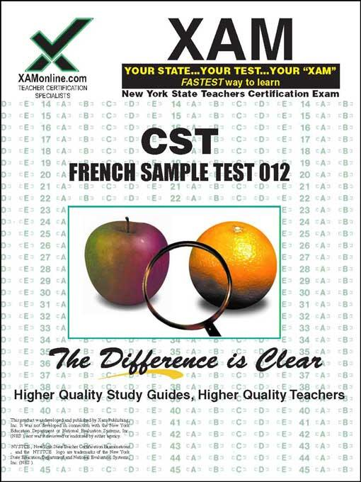 CST FRENCH SAMPLE TEST 012 EB9781607878872