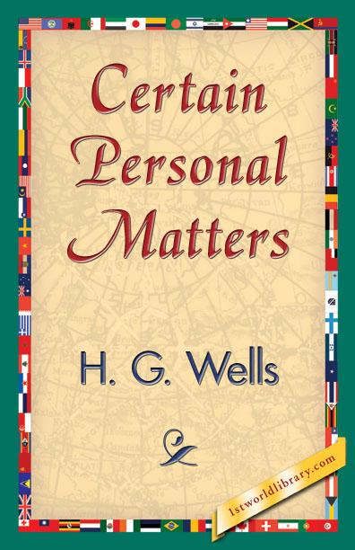 Certain Personal Matters EB9781421840598
