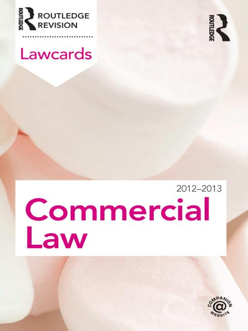 Commercial Lawcards 2012-2013 EB9781136583292