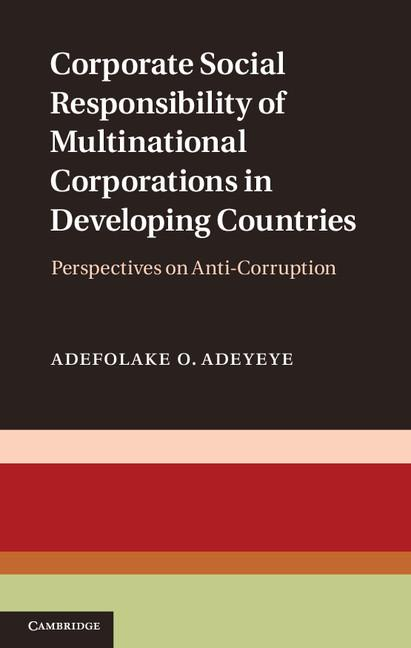Corporate Social Responsibility of Multinational Corporations in Developing Countries EB9781139368926