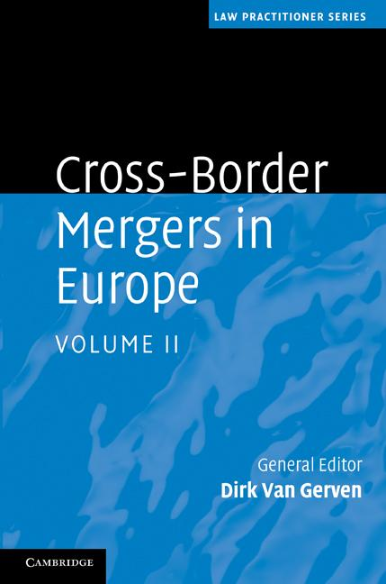Cross-Border Mergers in Europe EB9781139118835