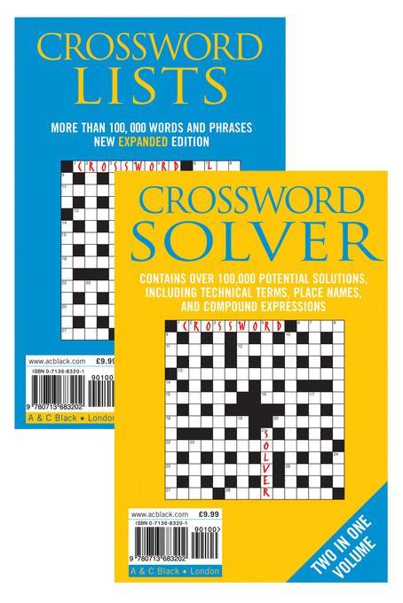 Crossword Lists & Crossword Solver EB9781408102305