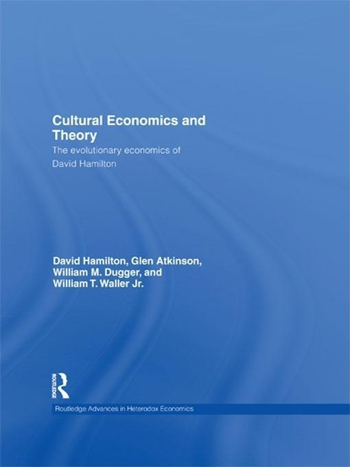Cultural Economics and Theory EB9781135196783