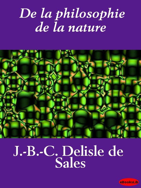 De la philosophie de la nature EB9781412191814