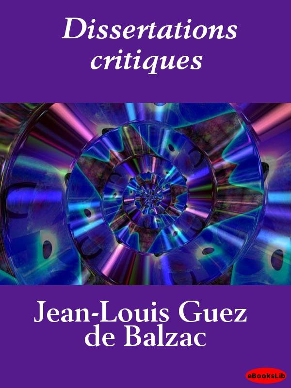Dissertations critiques EB9781412190268