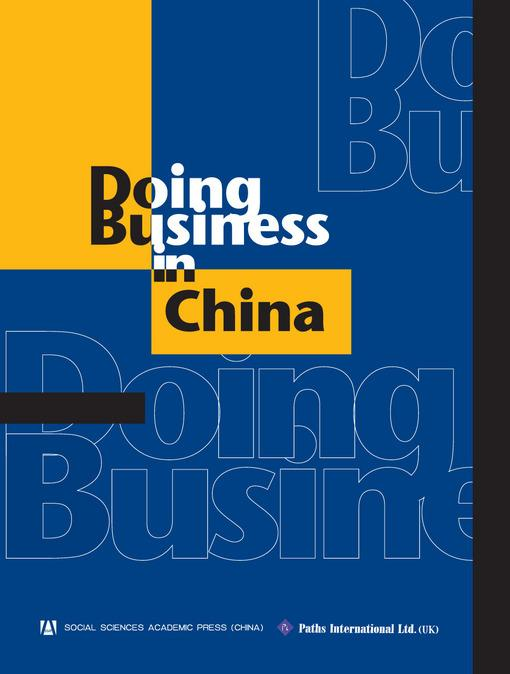 Doing Business in China EB9781844640508