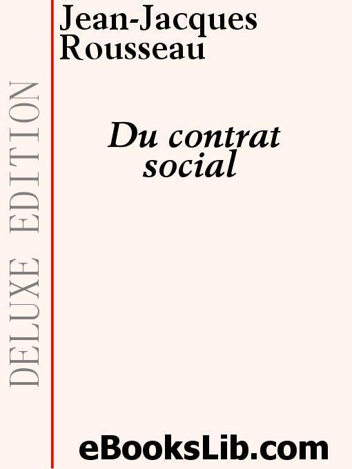 Du Contrat social EB9781554434848
