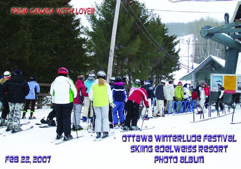 Ottawa Winterlude Festival - Skiing Edelweiss Resort Photo Album - Feb 22, 2007 (English eBook C5) EB9781414900674