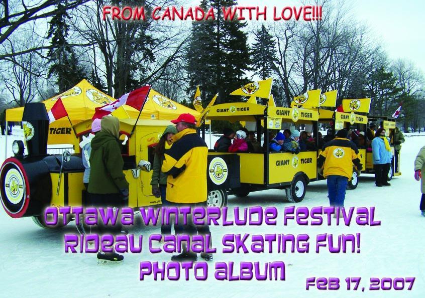 Ottawa Winterlude Festival - Rideau Canal Skating Fun!  Feb 17, 2007  Photo Album (English eBook C9)