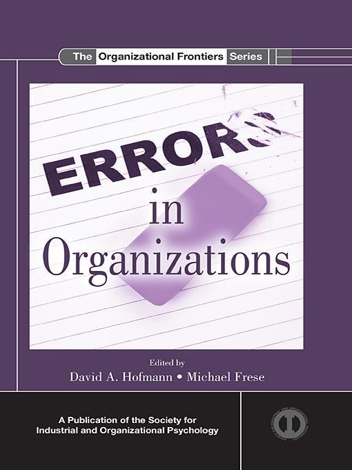 Error in Organizations EB9781136731860
