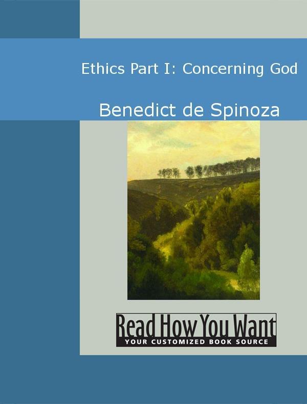 Ethics: Part I: Concerning God EB9781442939448