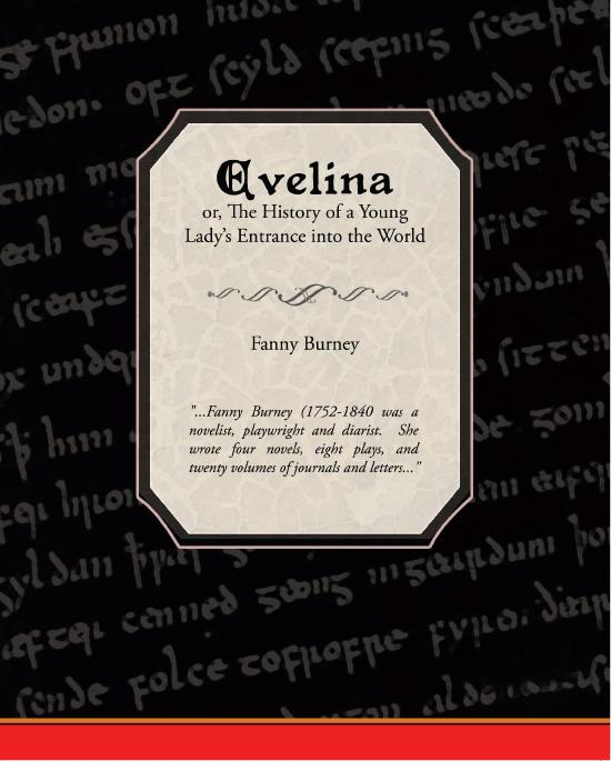 Evelina, or, The History of a Young Lady's Entrance into the World (ebook) EB9781438564869