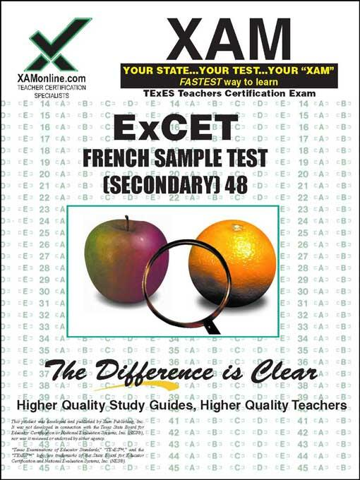 ExCET FRENCH SAMPLE TEST (SECONDARY) 048 EB9781607879237