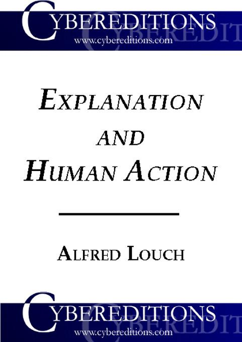 Explanation and Human Action