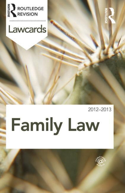 Family Lawcards 2012-2013 EB9781136595332