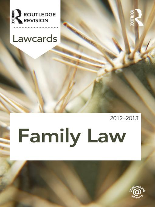 Family Lawcards 2012-2013 EB9781136595349