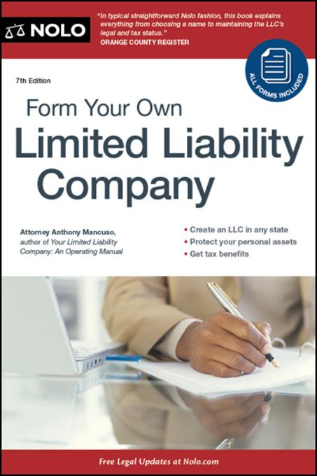 Form Your Own Limited Liability Company EB9781413316544
