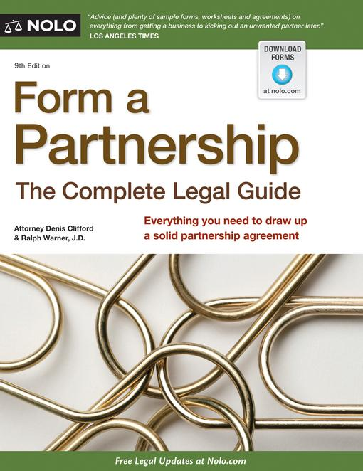 Form a Partnership: The Complete Legal Guide EB9781413314120