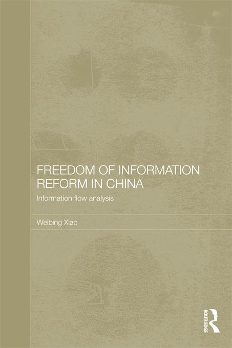 Freedom of Information Reform in China EB9781136630675