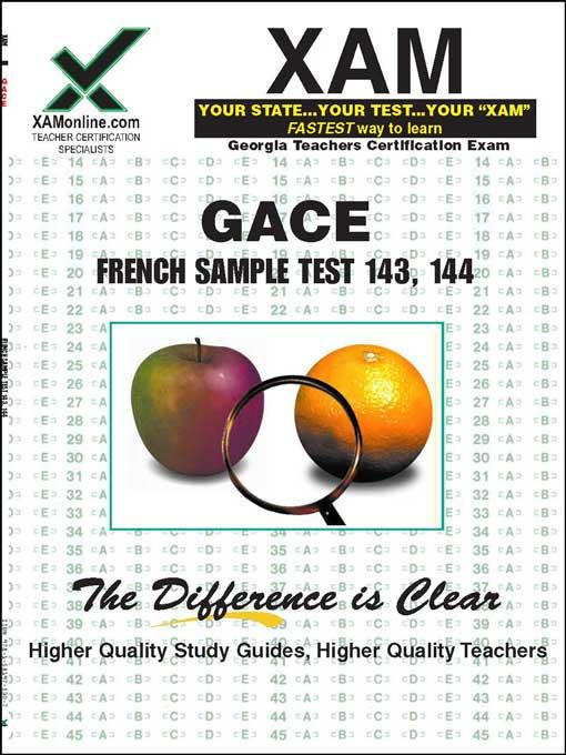 GACE French Sample Test 143, 144 EB9781607878025