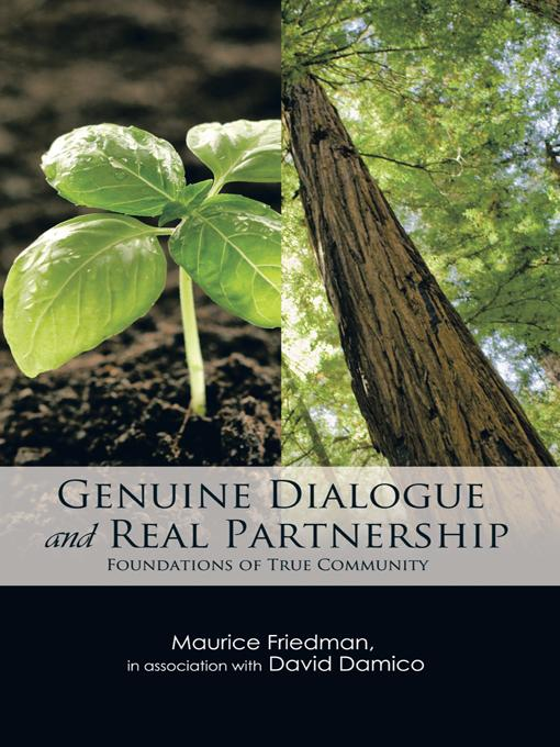 GENUINE DIALOGUE and REAL PARTNERSHIP: Foundations of True Community EB9781426953439