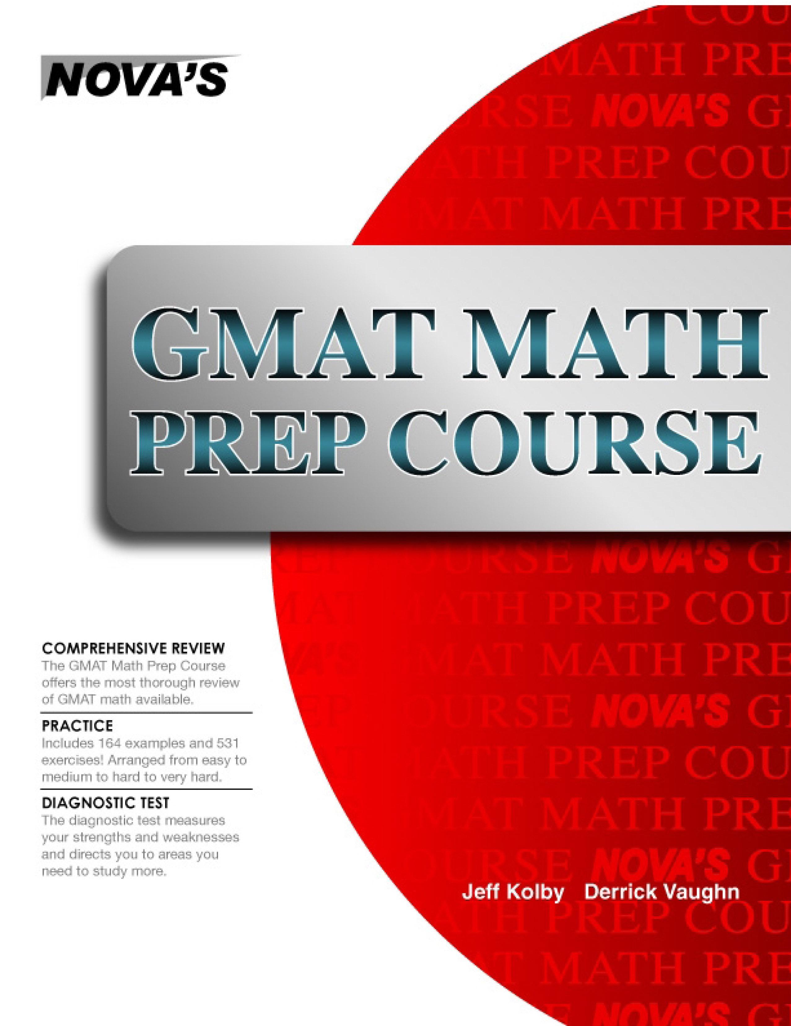 GMAT Math Prep Course EB9781889057705