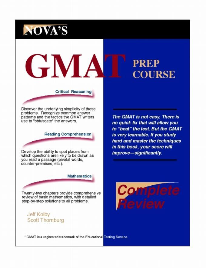 GMAT Prep Course eBook EB9781889057194