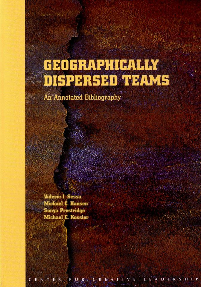 Geographically Dispersed Teams: An Annotated Bibliography EB9781932973327