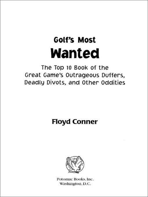 Golf's Most Wanted? EB9781612340395