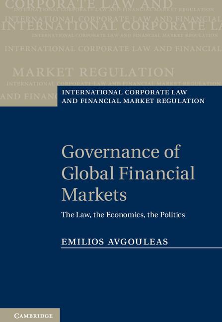 Governance of Global Financial Markets EB9781139368315