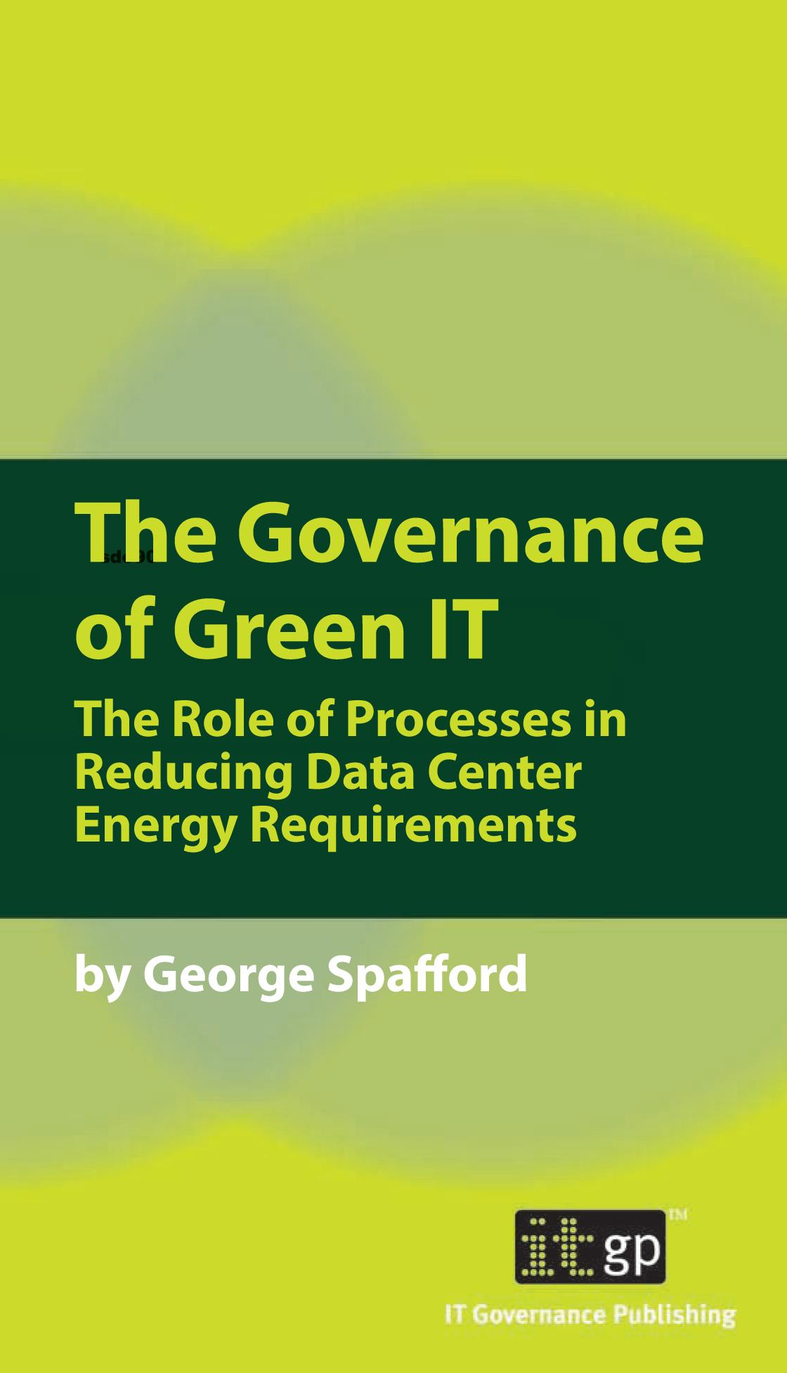 Governance of Green IT, The EB9781905356751