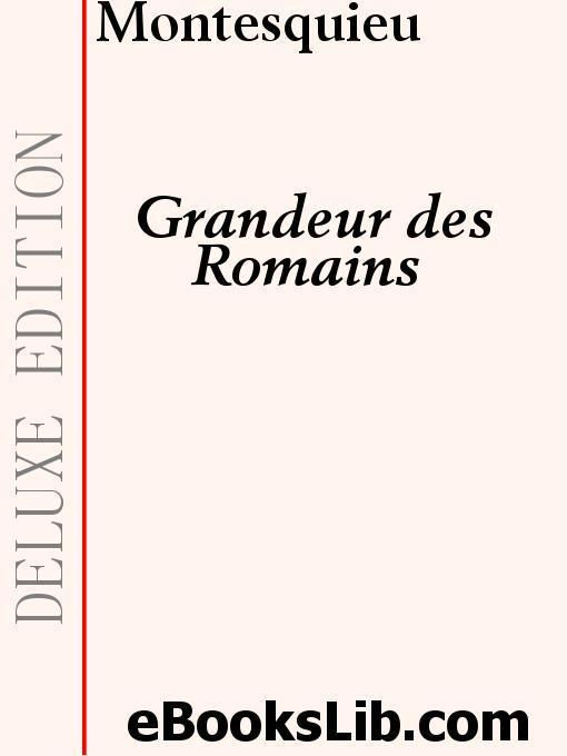 Grandeur des Romains EB9781554434701