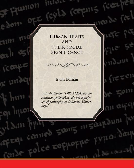 Human Traits and their Social Significance EB9781438590899