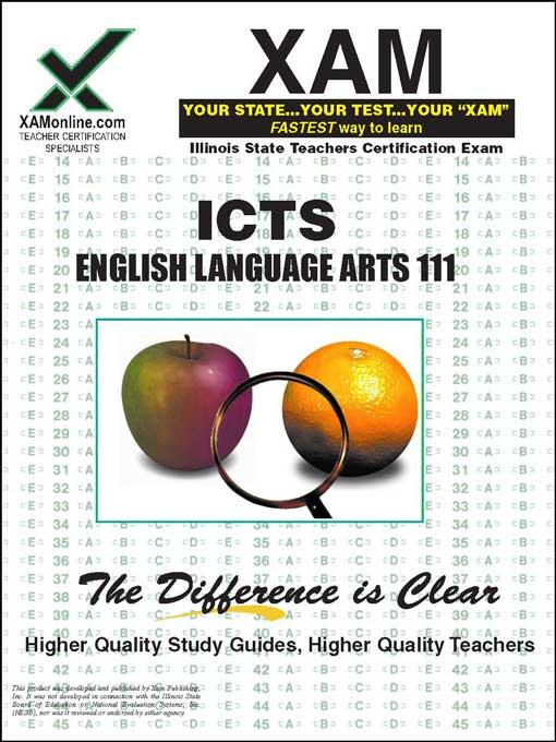 ICTS English Language Arts 111 EB9781607878124