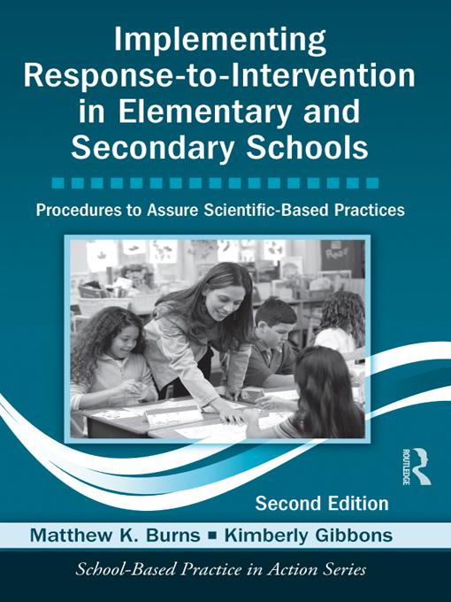 Implementing Response-to-Intervention in Elementary and Secondary Schools EB9781136480195