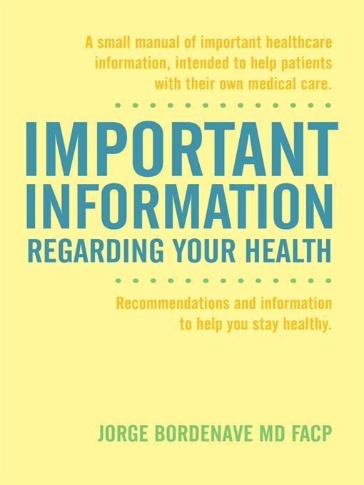 Important Information Regarding Your Health / Informaci?n Importante de la Salud EB9781452535814