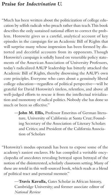 Indoctrination U: The Left's War Against Academic Freedom EB9781594033674